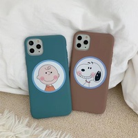 【MD76】 Charlie and  Snoopy ❤ iPhoneケース  iPhone11Pro Max ❤  iPhone7/8/Plus/X/XS/Xr/Max  スマホケース