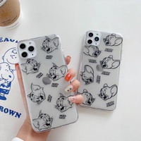 【MD92】Tom and Jerry ❤  iPhoneケース  カップル  iPhone11/Pro/Max/7/8/Plus/X/XS/Xr/Max