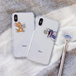 【T976】Tom and Jerry ❥(^_-) iPhone11/Pro/Pro Max  カップル couple 透明 iphoneケース  ソフトケース  ❤ かわいい