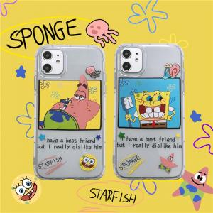 【ME41】 Sponge ❤ Starfish  かわいい  iPhoneケース ❤  iPhone11/Pro/Max /7/8/Plus/X/XS/Xr/Max