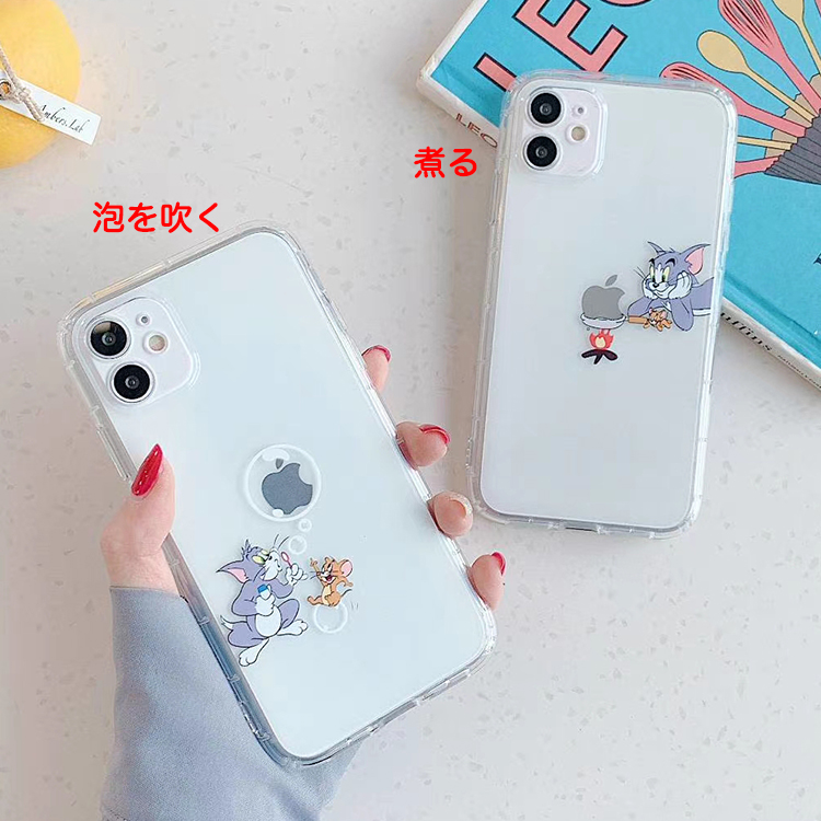 【MM50】Tom and Jerry ❤️  透明  ❤️   iPhoneケース  かわいい